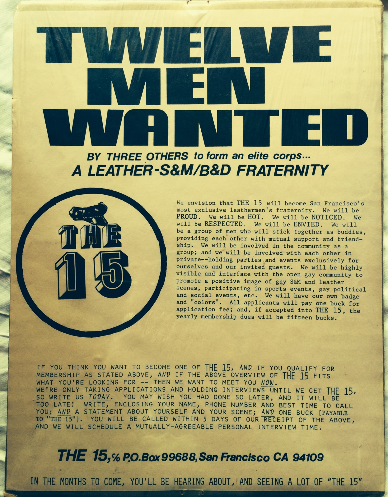 Founding Flyer from 1980