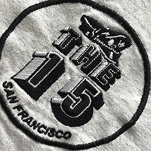 T-Shirt with logo of The 15 Association embroidered